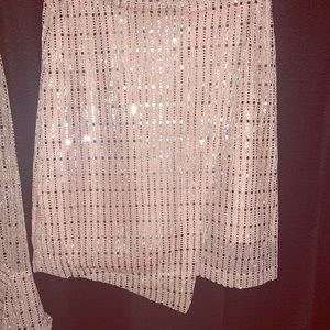 Other - Two piece Blouse & Matching Mini Skirt